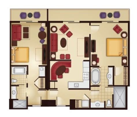 grand floridian 2 bedroom villa floor plan the villas at disney s grand floridian resort spa guide