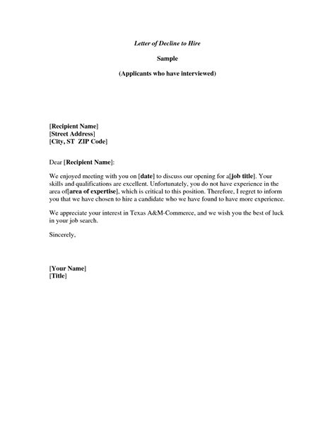 Regret Letter Sle For Tender Sle Regret Letter For Invitation Invitation Librarry