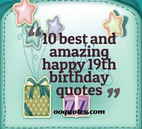 Birthday Quotes In Happy 19th Birthday Quotes Quotesgram