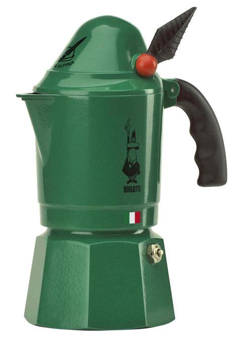 italian maker details about moka alpina bialetti 3 cups green mocha