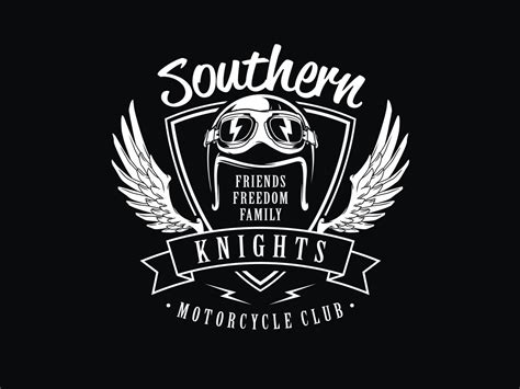 Kaos Classic Motorcycle bold playful logo design for southern knights mc by