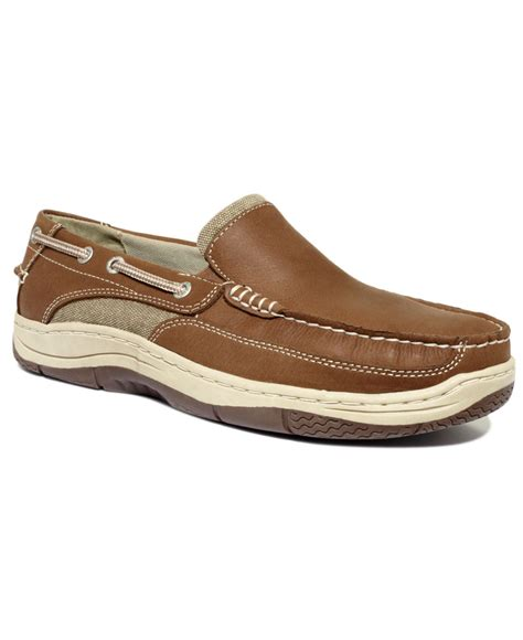 dockers shoes dockers marlow slip on boat shoes in brown for lyst