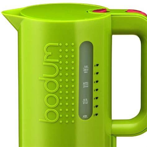 bright green kitchen accessories bodum bistro 1l electric kettle lime green