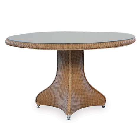 lloyd flanders 48 quot wicker pedestal dining table 86219