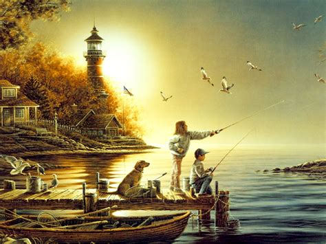 best paints child fisherman best painting work golden colour best