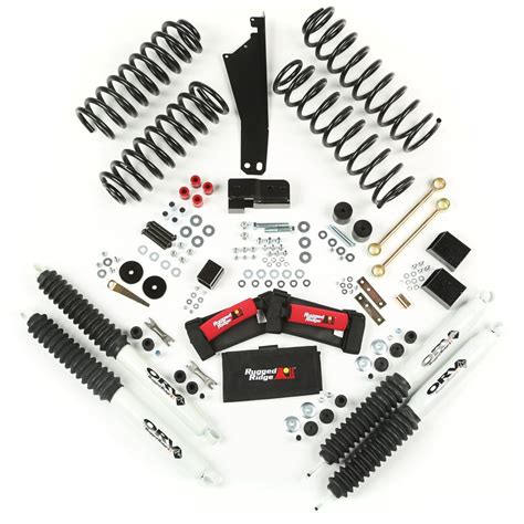 Rugged Ridge Lift Kit by 2 5 Inch Lift Kit With Shocks For Wrangler Jk Fits 2 And 4 Door Jeep World