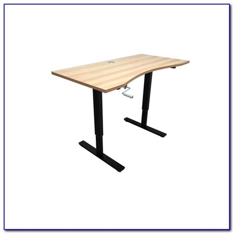 Crank Adjustable Height Standing Desk Desk Home Design Crank Standing Desk