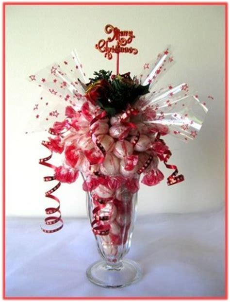 how to do a christmas candy sunday centerpiece arrangements sundae glasses and on