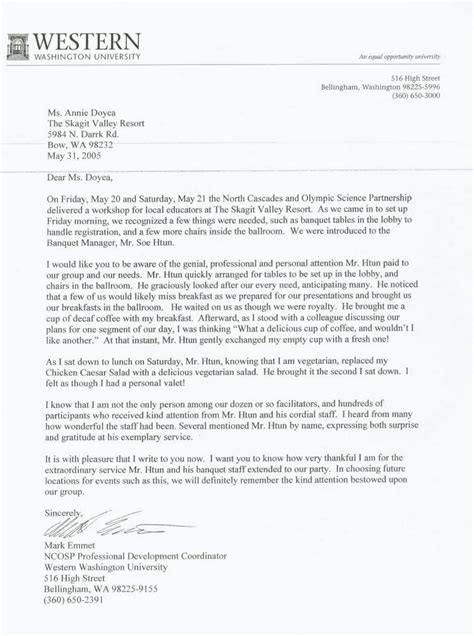 Acceptance Letter Washington State Letter Of Recommendation