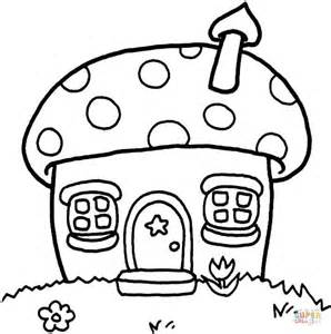 Mushroom Cottage Coloring Online Where To Find Coloring Books