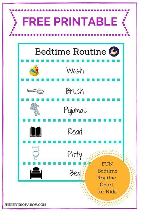 printable toddler daily routine free printable bedtime routine chart for little kids and