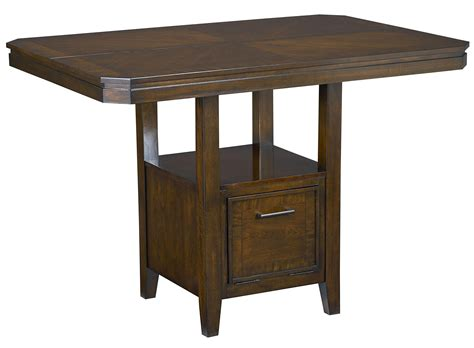 dining table with drawers standard furniture avion counter height table with