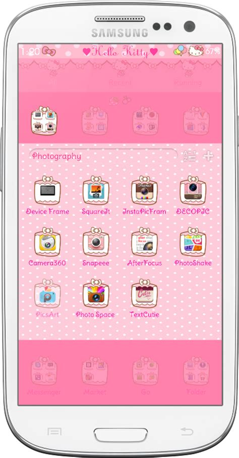 hello kitty car ride go launcher theme android themes pretty droid themes hello kitty car ride go launcher theme