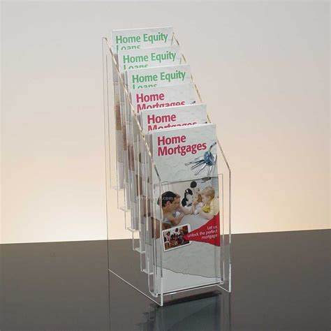 10 Arise Pop Up Curve Floor Display by 6 Pocket Clear Acrylic Brochure Holder Countertop China