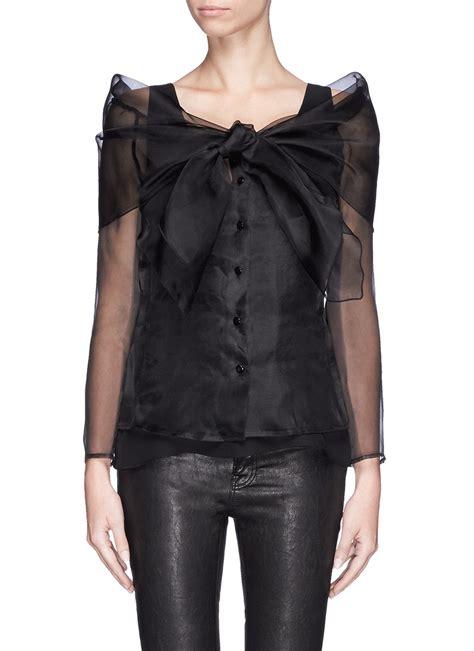 Organza Jacket lyst armani wrap front organza jacket in black