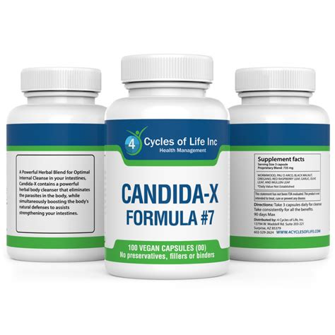 Detox Of Candida by Candida X Cleanse Restoration Formula 7 4 Cycles Of