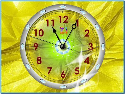 apple wallpaper clock mac desktop screensaver clock download free