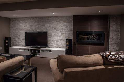modern contemporary basement design build remodel modern hansen modern basement toronto by allen interiors