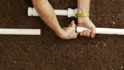 Repair Pipe How To Repair Pvc Sprinkler Pipe Glueless Coupling