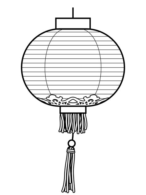 Lantern Coloring Page new year coloring pages new year lantern coloring pages lantern printables