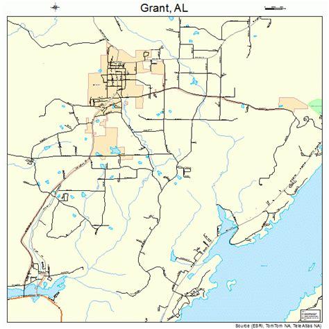 map grant grant alabama map 0131096