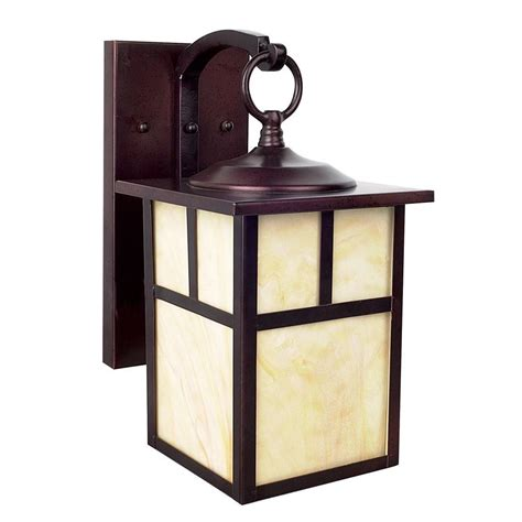Craftsman Outdoor Light Luminance Craftsman 1 Light Rubbed Bronze Outdoor Lantern F4664 62 The Home Depot