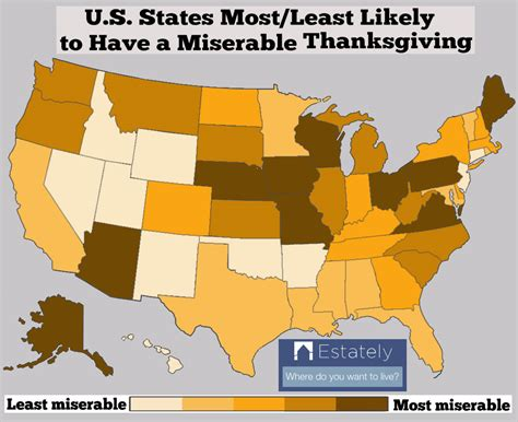 happiest state in the us are you having thanksgiving in the happiest u s state for