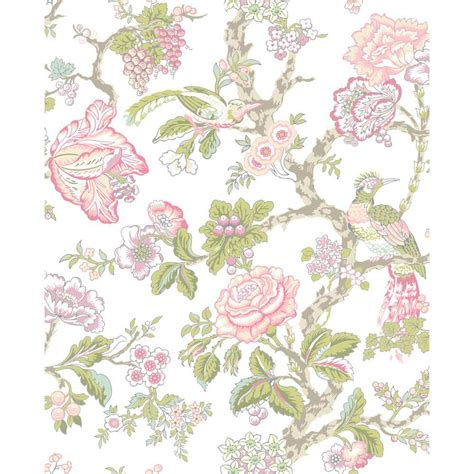pink wallpaper lowes shop york wallcoverings cream rosy pink and aqua