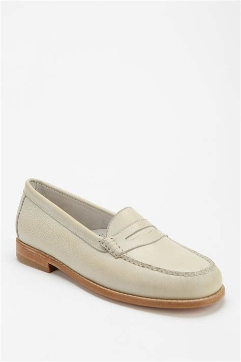bass wayfarer loafer g h bass co wayfarer loafer in white lyst