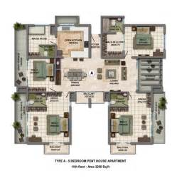 5 bedroom apartment floor plans 3 apartment house plans images