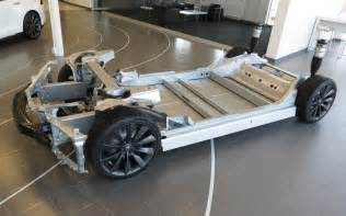 Tesla Electric Car Battery Replacement The Aluminum Chassis Of The Model S With Room For The