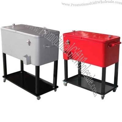 fan with ice compartment ice box rolling cooler with wheels and tray factory direct