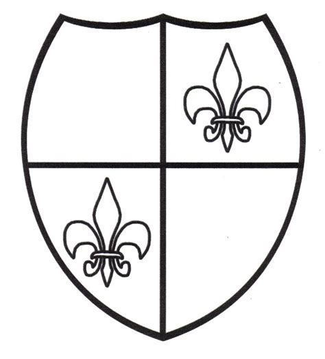 coloring pages knights shields 106 best images about history coloring page on pinterest