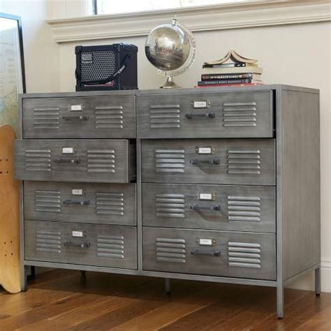 metal dressers bedroom furniture storage furniture locker dresser pbteen metal locker