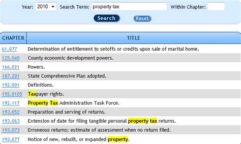 Where To Look Up Property Tax Records Statute Search Tips The Florida Senate