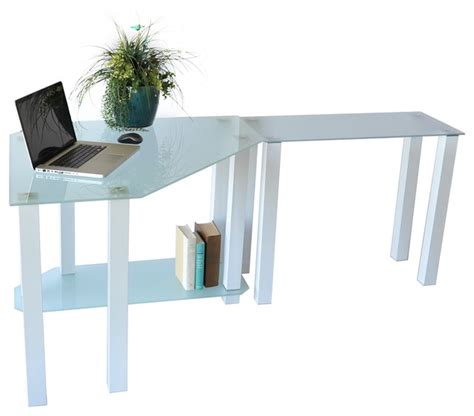frosted glass corner desk frosted glass gloss white corner computer desk with right