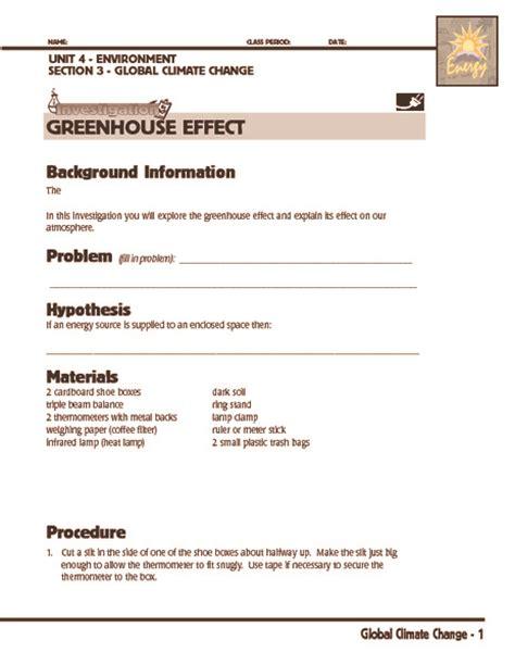 Greenhouse Effect Worksheet High School by Greenhouse Effect Worksheet Worksheets Releaseboard Free