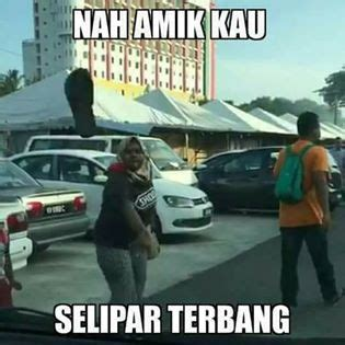Rude Finger Meme - rude malaysian driver who threw slipper at car is now a