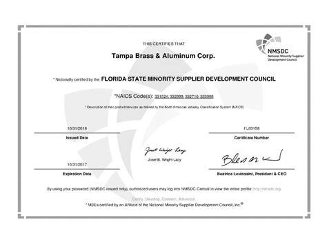 eicc conflict minerals template certifications ta brass aluminum corporation