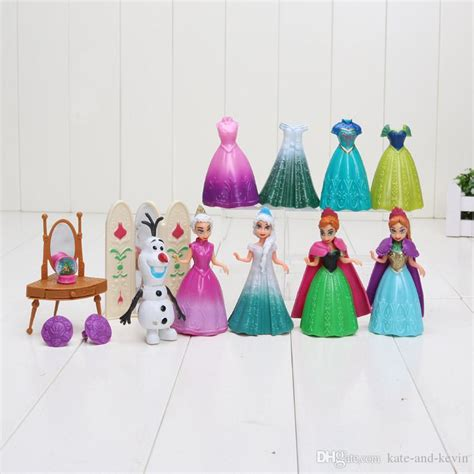 Set Doll Frozen Fever Elsa Olaf 2017 frozen 2 fever princess elsa olaf pvc