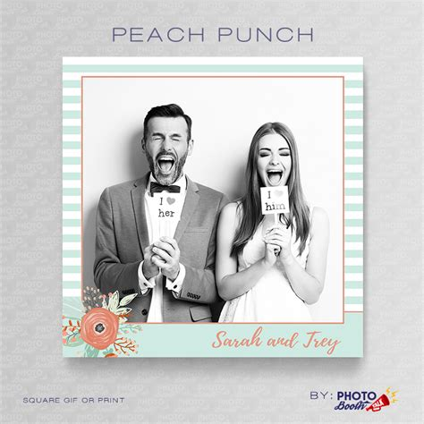 photo booth layout photoshop peach punch square photoshop psd file photo booth talk