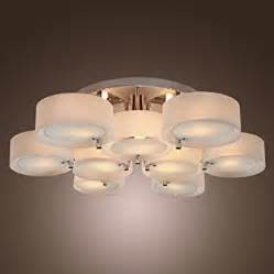 Modern Ceiling Mounted Light Fixtures Lightinthebox Acrylic Chandelier With 9 Lights Flush Mount Modern Ceiling Light Fixture