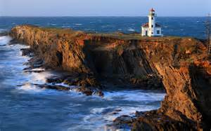 beautiful lighthouse on the coast of the u s wallpapers