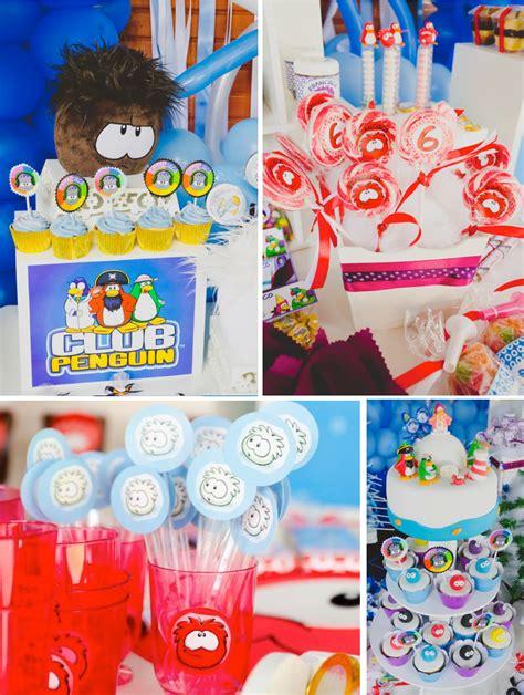 club themed decorations kara s ideas disney s club penguin themed birthday