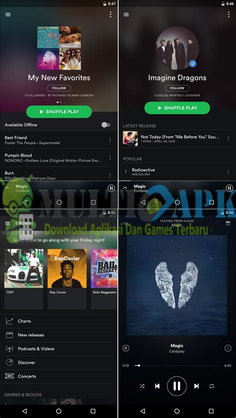 spotify tablet version apk spotify premium mod apk v8 4 18 743 version multiapk net