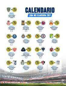 Calendario Liga Mx Club America 2016 Calendario Clausura 2017 Club Am 233 Rica Sitio Oficial