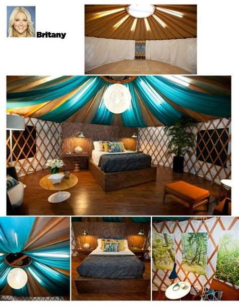 love yurts hgtv the natural blue fabric and natural texture on pinterest