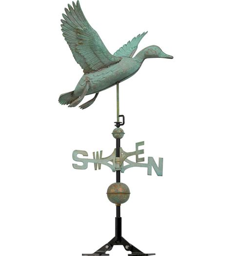 Roof Weathervane 37 Inch Roof Weathervane Flying Duck In Weathervanes
