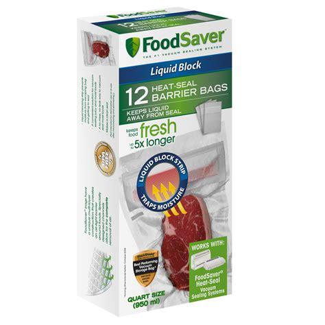 foodsaver 174 12 liquid block vacuum seal quart bags at