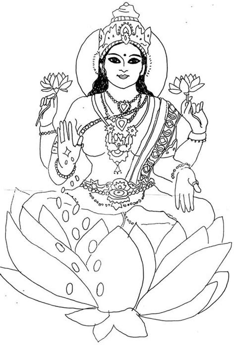lakshmi coloring pages coloring pages